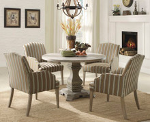 Euro Rustic Weathered Round Table Set