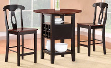 Atwood Black Espresso Counter Height Set