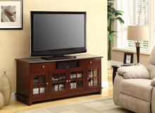 Brown Cherry TV Console