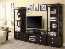 "66"" Contemporary Rich Cappuccino TV Console"