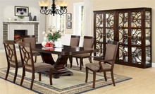 Woodmont Contemporary Walnut Dining Table Set