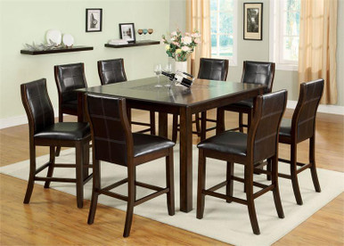 Townsend Brown Cherry Counter Height Table Set