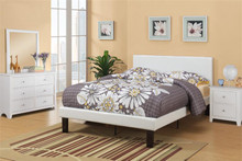Iris Modern White Faux-leather Full Bed