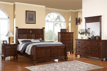 Hudson Medium Brown Panel Bed