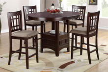 Kamryn Oval Dark Brown Counter Height Set
