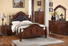 Theodore Cherry Leatherette Traditional Bed