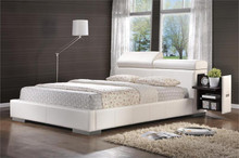 Bedford Modern White Leather-like Bed