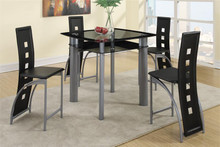 Kama Square Glass Counter Dinette Set