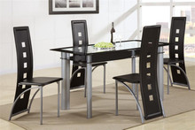 Kali Glass Black Chrome Dinette Set