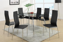 Kala Glass Black Chrome Dinette Set