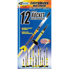 Customizer Mini Flying Model Rocket Launch Set - Estes 1497 (package)
