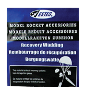 Recovery Wadding Accessory for Flying Model Rockets - Estes 302274
