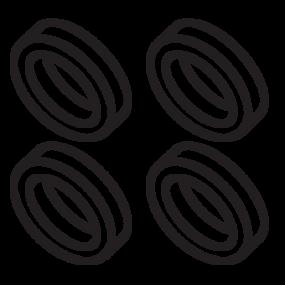 CR-2050 Centering Rings (4 rings) - Custom 230220