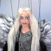 Handmade Marionette - Small Black Angel