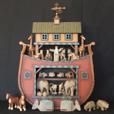 Wooden Noah's Ark - Round Bottom Timber Frame Ark