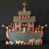 Wooden Noah's Ark - Drawer Barn Ark