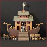 Wooden Noah's Ark #10 - Drawer Ark with Drawbridge