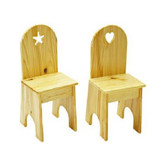 Little Colorado Kids Chair - Solid Back with Optional Heart or Star Cutout