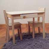 Little Colorado Table & Chairs Set in Natural Finish with Open Back Chairs