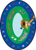 Learning Carpets Noah's Ark Cut Pile Rug - Oval