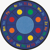 Learning Carpets ABC Dots Cut Pile Rug - Round