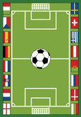 Learning Carpets Soccer Play Carpet
