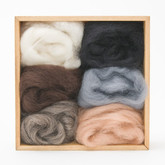 Wool Roving for Needle Felting - Neutral