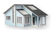 Contemporary Ranch Unfinished Dollhouse Kit