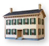 Lincoln Springfield Home Unfinished Dollhouse Kit