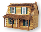 Adirondack Cabin Unfinished Dollhouse Kit