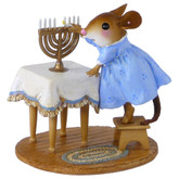 Wee Forest Folk Miniature - Lighting the Menorah (M-519)