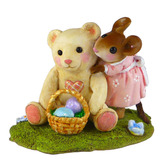 Wee Forest Folk Miniature - Teddy's Easter Hug (M-522)