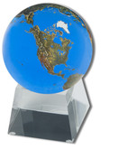 Shasta Visions Aqua Crystal Globe - 3 Inch Diameter on Tapered Glass Base (181-AQ)