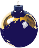 Shasta Visions Glass Earth Ornament - 2.5 Inch Diameter, 22k Gold Continents (510)
