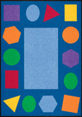 Learning Carpets Geometric Shapes Cut Pile Rug - Rectangular
