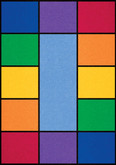 Learning Carpets Rainbow Cut Pile Rug - Rectangular