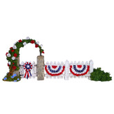 Wee Forest Folk Miniature - RWB Picket Fence (A-26)