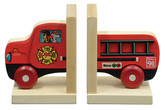 Maple Landmark Mighty Driver Bookends, Fire Truck (70201)
