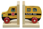 Maple Landmark Mighty Driver Bookends, School Bus (70203)