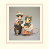 R John Wright Dolls Fairy Tale Mice - Hansel & Gretel