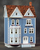 1/2 Scale Front Opening East Side Townhouse Unfinished Dollhouse Kit