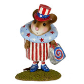 Wee Forest Folk Miniature -  July 4th Cupcake Treat Limited Edition (M-574i)