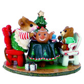 Wee Forest Folk Miniature - Christmas Tea for Three (M-177c)