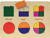Maple Landmark Shapes & Fractions Lift and Learn Puzzle