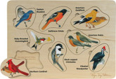 Maple Landmark Peterson's Backyard Birds Lift and Learn Puzzle