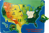 U.S. Map Lift and Learn Puzzle by Maple Landmark