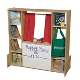 Puppet Theater, Play Store, Literacy Center with Side Shelving (WD990667F)