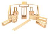 Wooden Hollow Block Set, 20 Pieces