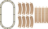 Wooden Train Track, Oval Set By Maple Landmark (11120)