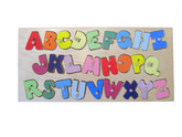 Wooden Alphabet Peg Puzzle by Hollow Woodworks